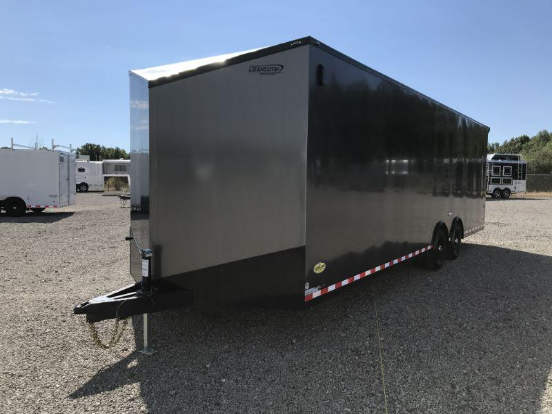 2021 8.5X28 BRAVO BUMPER PULL ENCLOSED CAR TRAILER