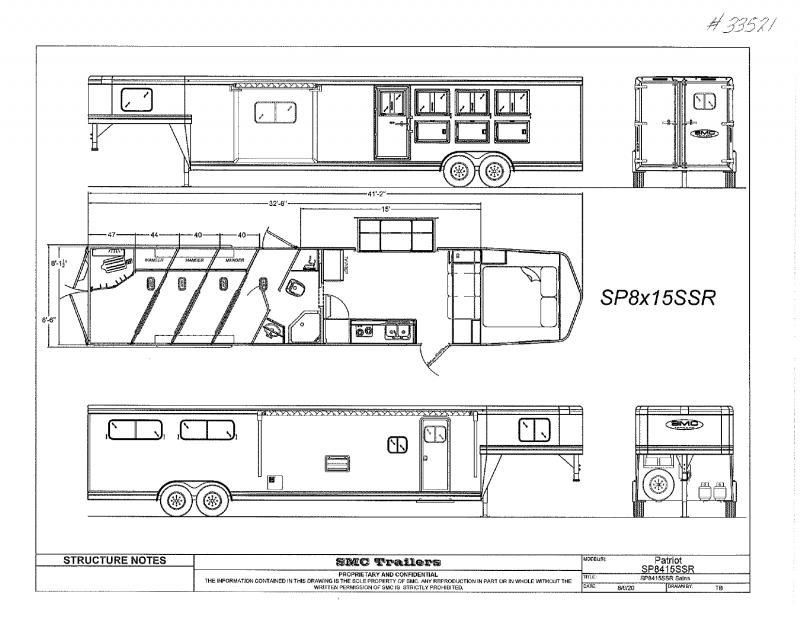 2021  4 HORSE  SMC GOOSENECK WIITH LIVING QUARTERS