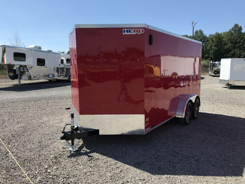 2021 7 x 14 BRAVO BUMPER PULL ENCLOSED CARGO TRAILER