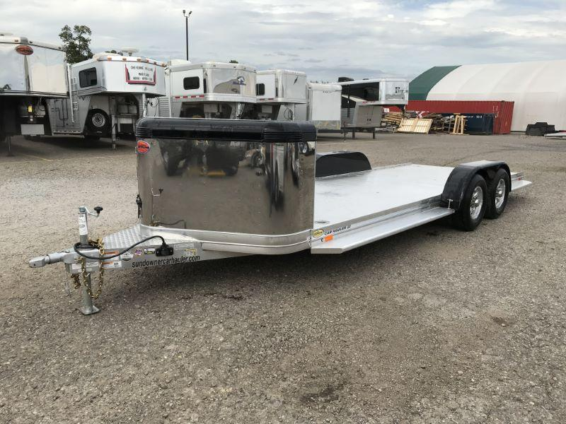 2020 7X22 SUNDOWNER BUMPER PULL OPEN CAR TRAILER