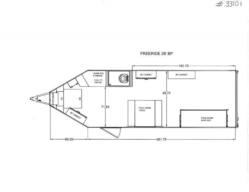 2021 8.5X34 TRAILS WEST ENCLOSED BUMPER PULL TOY HAULER TRAILER