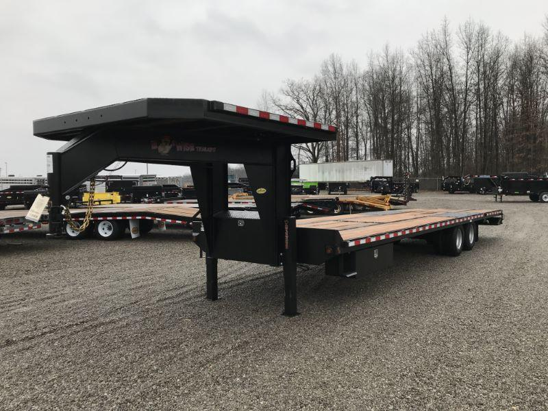 2020 8.5 X 32 BWISE GOOSENECK EQUIPMENT TRAILER