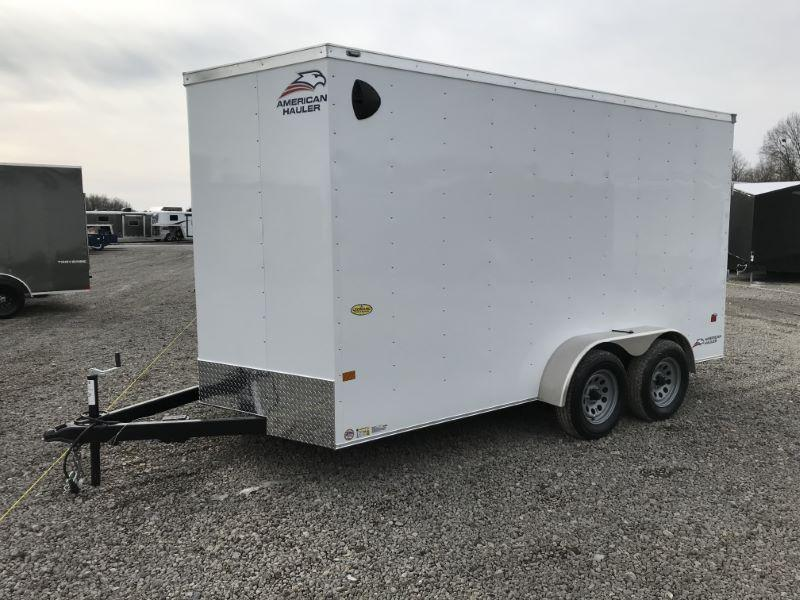 2021  14'  AMERICAN HAULER BUMPER PULL ENCLOSED CARGO TRAILER
