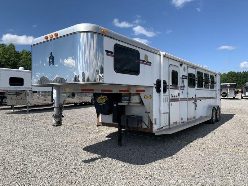 2004 4 HORSE ADAMS GOOSENECK LIVING QUARTERS HORSE TRAILER