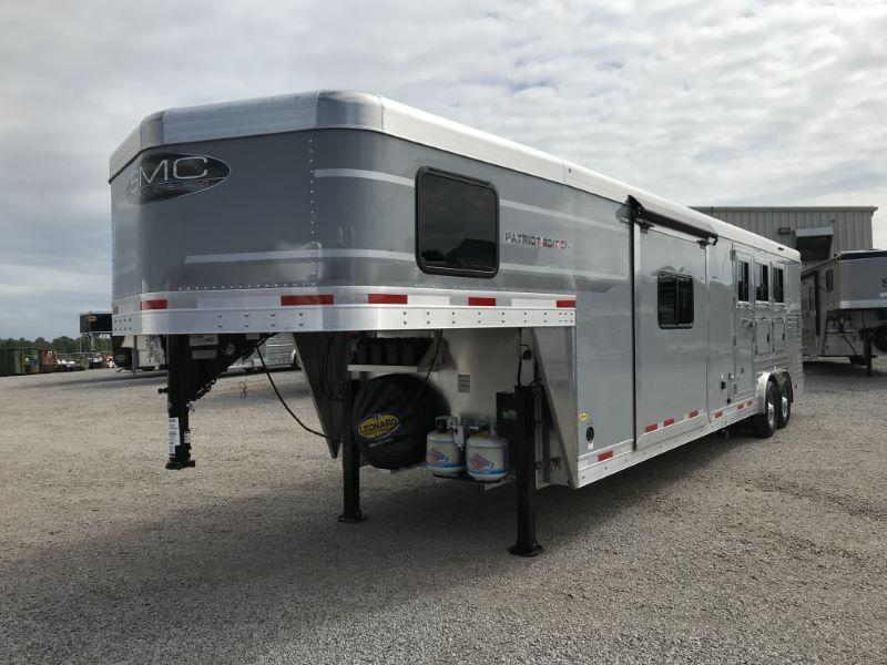 2021 3 HORSE  SMC GOOSENECK WITH LIVING QUARTERS HORSE TRAILER