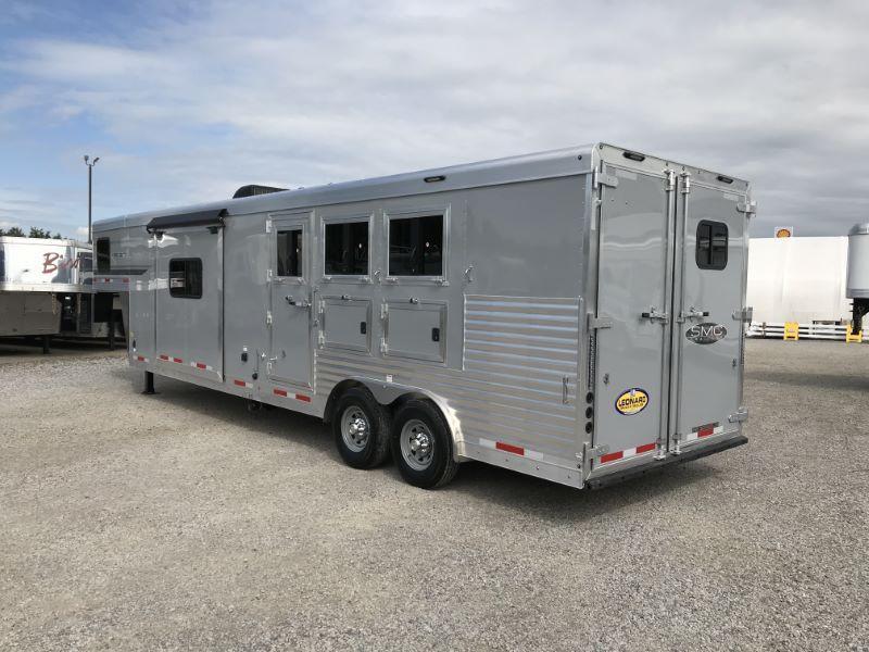 2021 3 HORSE  SMC GOOSENECK WITH LIVING QUARTERS HORSE TRAILER