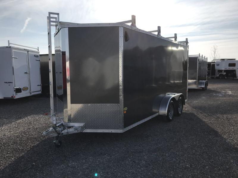 2020 7X14 ALCOM STEALTH BUMPER PULL ENCLOSED TRAILER