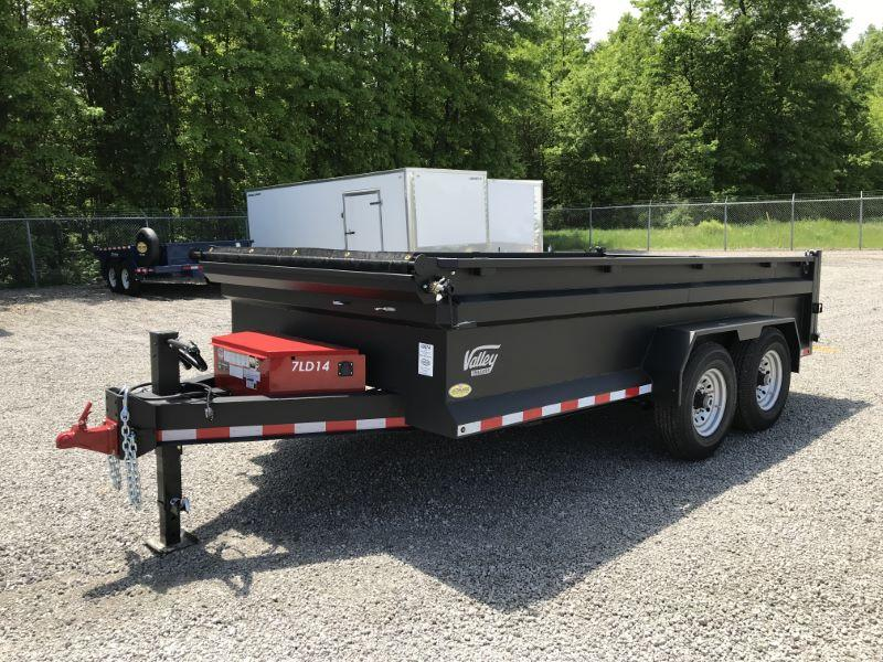 2020 7X14 VALLEY BUMPER PULL DUMP TRAILER
