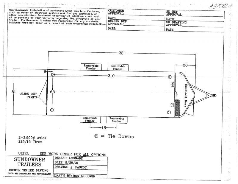2021  22'  SUNDOWNER BUMPER PULL CAR HAULER