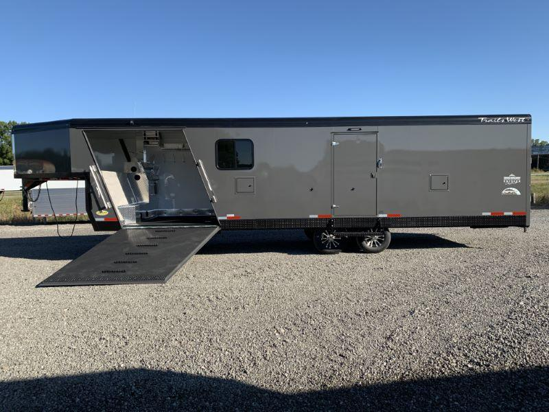 2021 8.5 X 28 TRAILS WEST GOOSENECK SNOWMOBILE TRAILER
