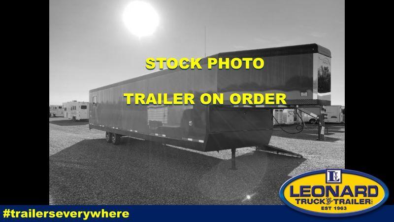 2021 8.5X34 TRAILS WEST ENCLOSED GOOSENECK ATV/SNOWMOBILE TRAILER