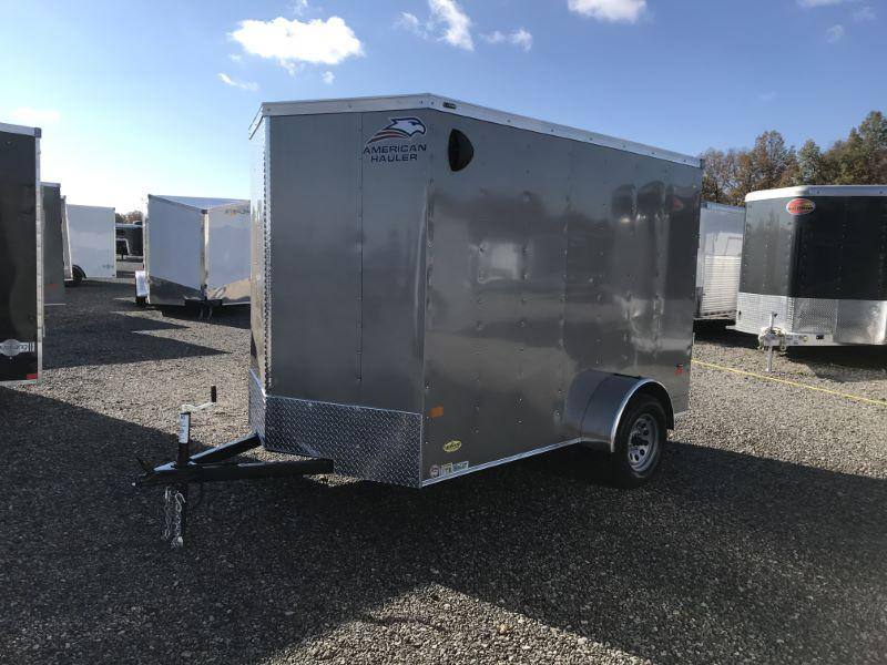 2021  6X10  AMERICAN HAULER BUMPER PULL ENCLOSED CARGO TRAILER