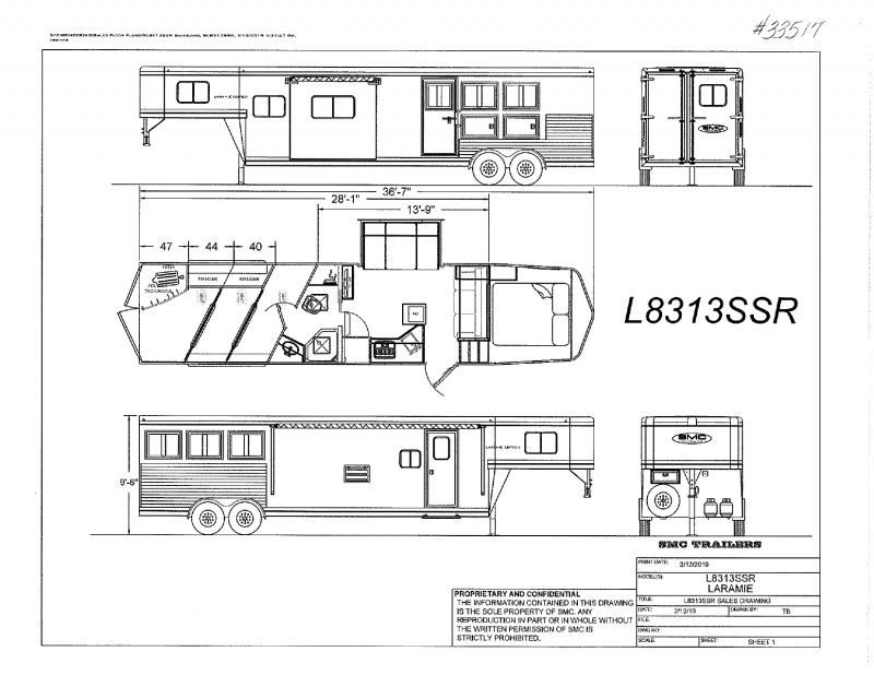 2021  3 HORSE  SMC GOOSENECK WITH LIVING QUARTERS