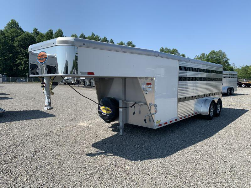 2021  20' SUNDOWNER GOOSENECK STOCK TRAILER