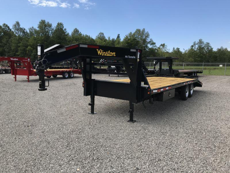 2021 8.5X25 WINSTON GOOSE NECK EQUIPMENT TRAILER