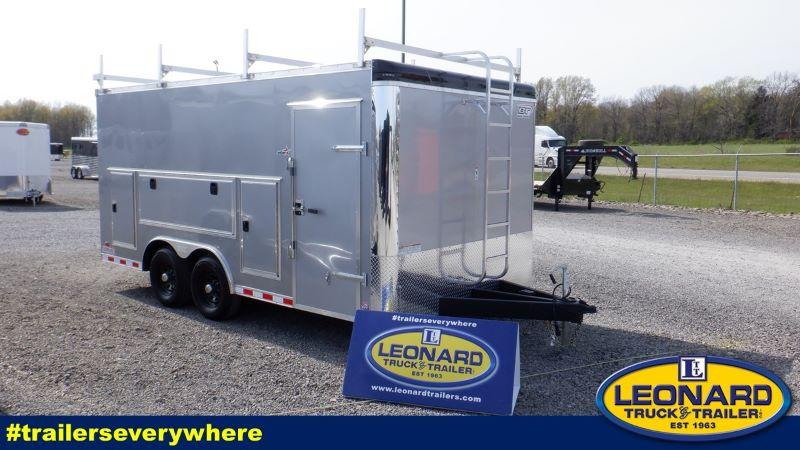 2021 8.5X16 BRAVO BUMPER PULL ENCLOSED CAR TRAILER