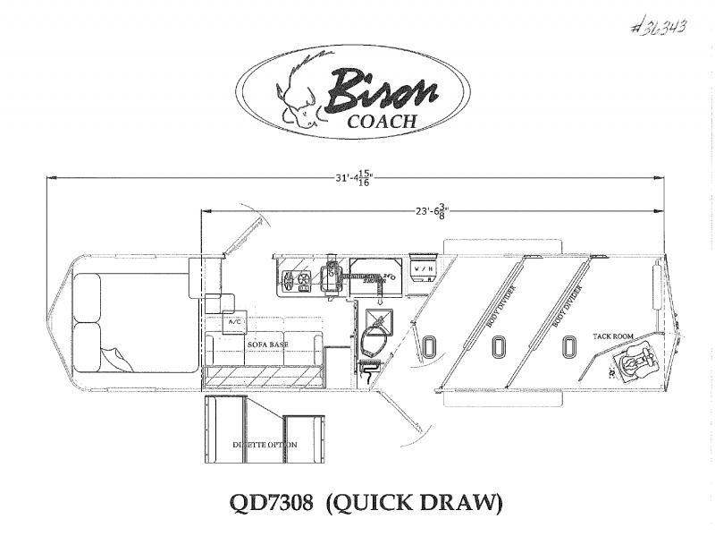 2022  3 HORSE  BISON GOOSENECK WITH LIVING QUARTERS