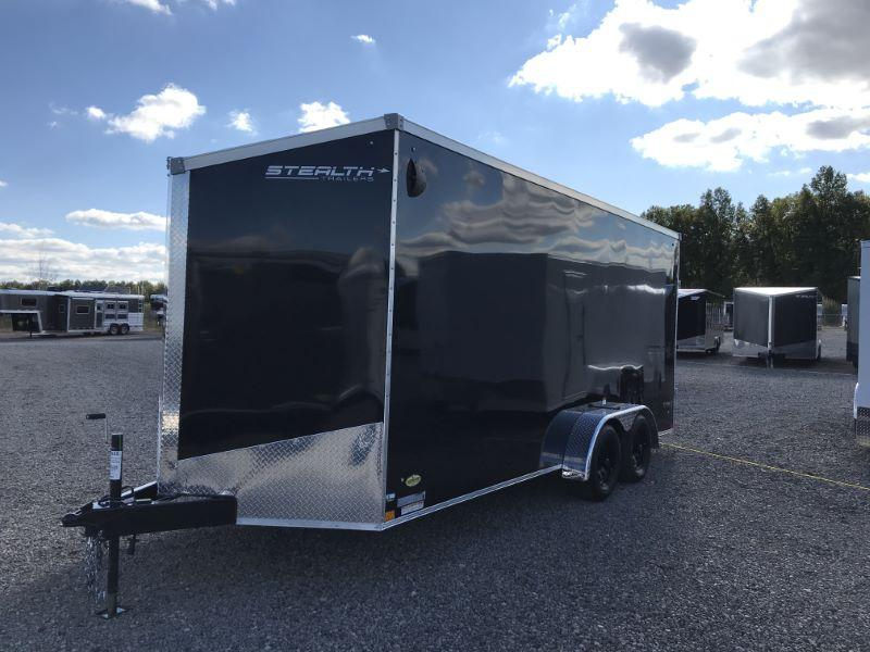 2021  7X18  STEALTH BUMPER PULL ENCLOSED CARGO TRAILER