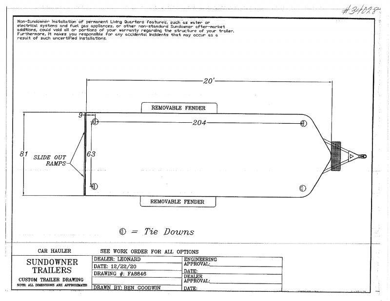 2022 19' SUNDOWNER BUMPER PULL CAR HAULER TRAILER