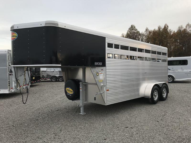 2021 16' SUNDOWNER GOOSENECK STOCK TRAILER
