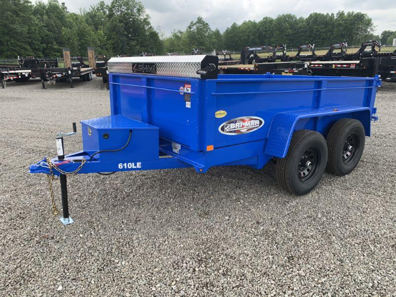 2021 10'  BWISE BUMPER PULL LOW PROFILE DUMP TRAILER