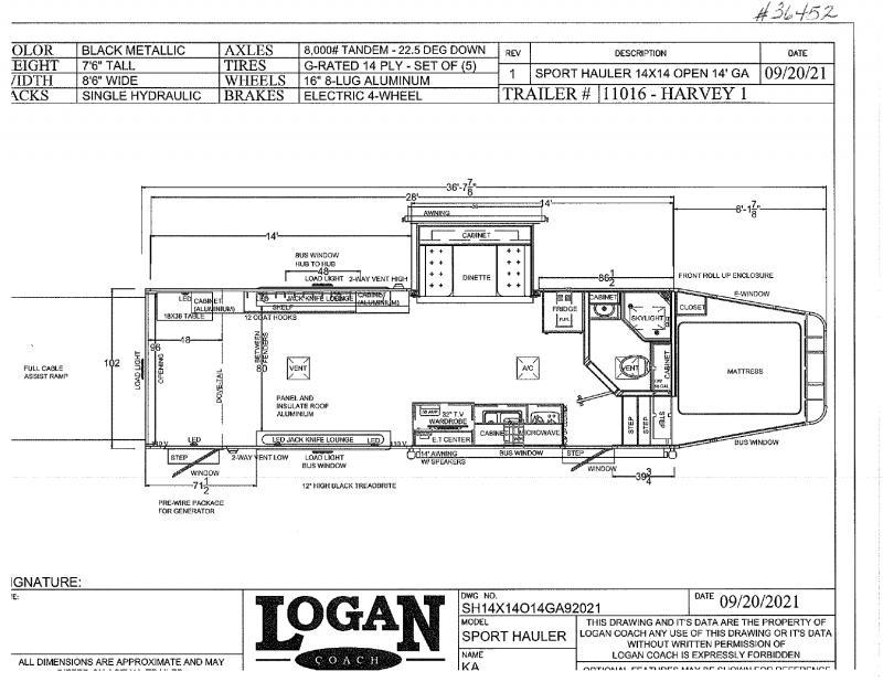 2022 LOGAN COACH GOOSENECK LIVING QUARTERS TOY HAULER