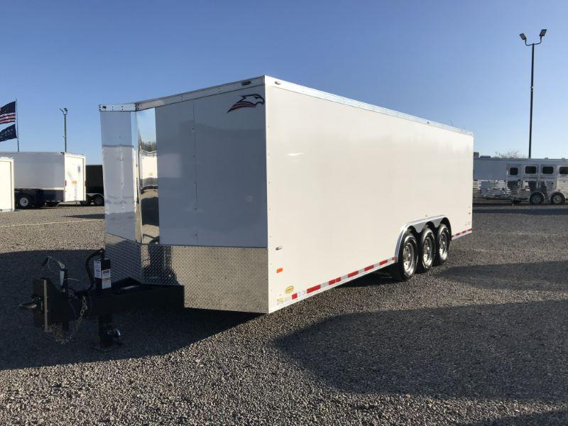 2019  8.5X24  AMERICAN HAULER BUMPER PULL ENCLOSED CAR TRAILER