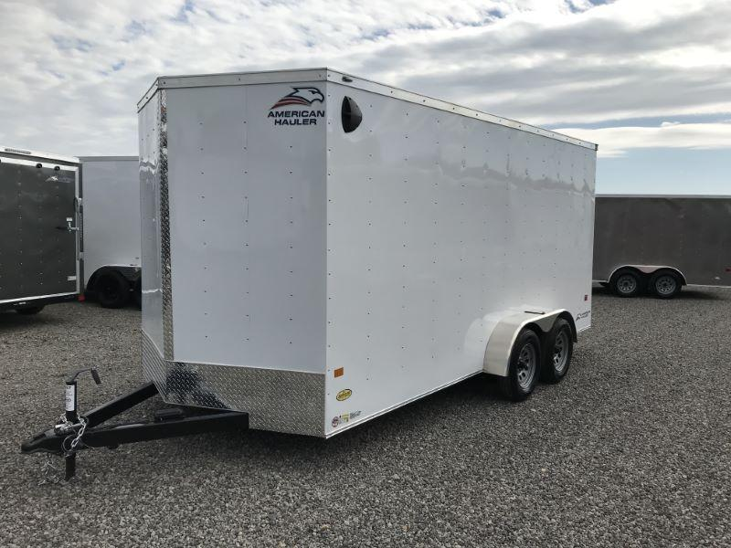 2021  7X16  AMERICAN HAULER BUMPER PULL ENCLOSED CARGO TRAILER