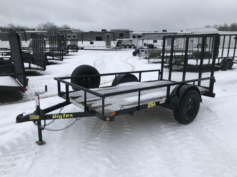 2018  10'  BIG TEX BUMPER PULL UTILITY TRAILER