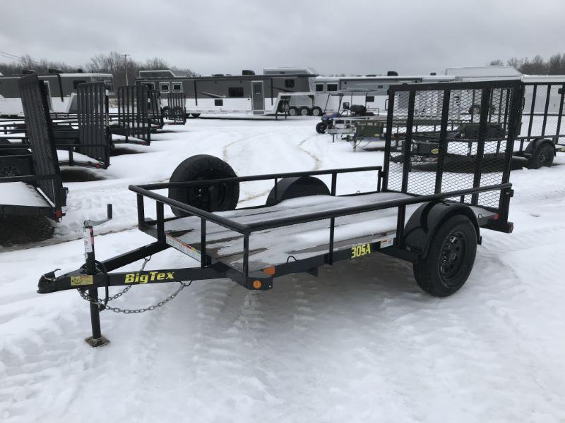 2018  10'  BIG TEX BUMPER PULL UTILITY TRAILER