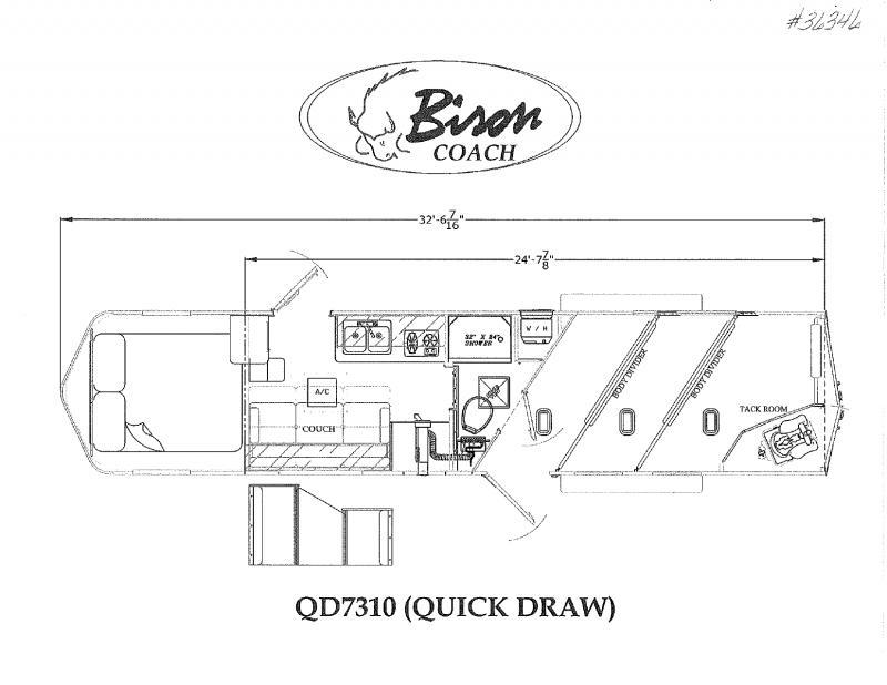2022  3 HORSE  BISON GOOSENECK WITH LIVING QUARTERS HORSE TRAILER