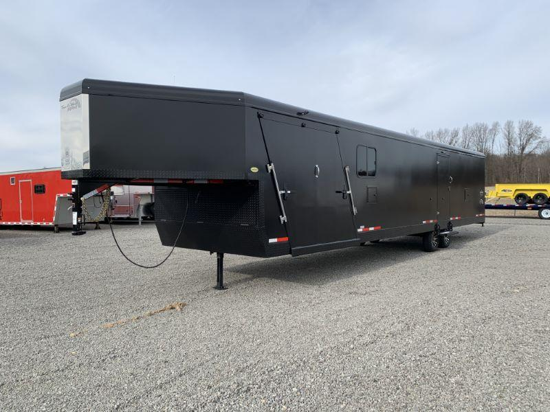 2020 8.5 X 34 TRAILS WEST GOOSENECK ENCLOSED SNOWMOBILE TRAILER