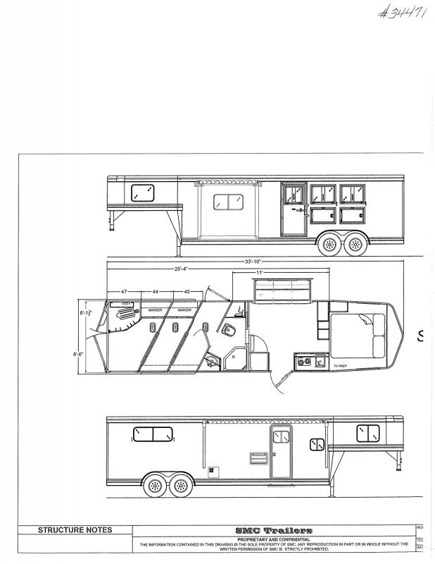 2022  3 HORSE  SMC GOOSENCK WITH LIVING QUARTERS