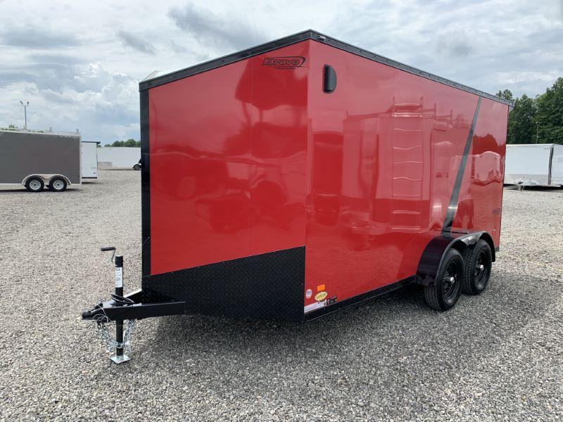 2020  7X14  BRAVO BUMPER PULL ENCLOSED TRAILER