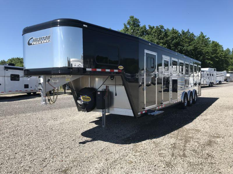 2019 6 HORSE CIMARRON GOOSENECK W/DRESS HORSE TRAILER