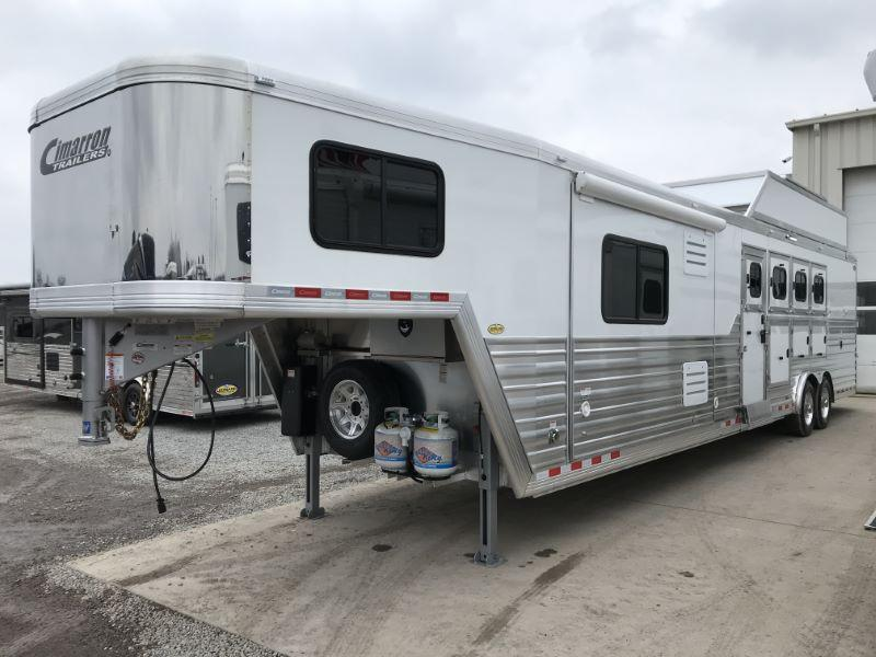 2021  4 HORSE  CIMARRON GOOSENECK WITH LIVING QUARTERS HORSE TRAILER