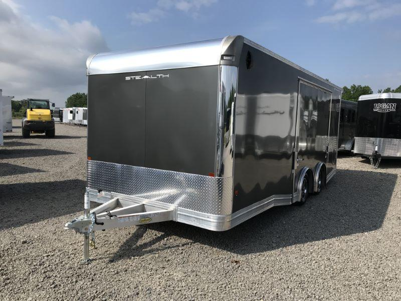 2020 20' ALCOM STEALTH BUMPER PULL ENCLOSED CAR TRAILER