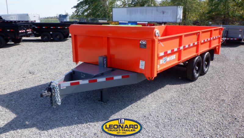 2022  16'  BWISE DECK OVER DUMP TRAILER