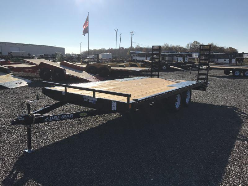 2021 18'  BRI-MAR TAG DECK OVER  EQUIPMENT TRAILER