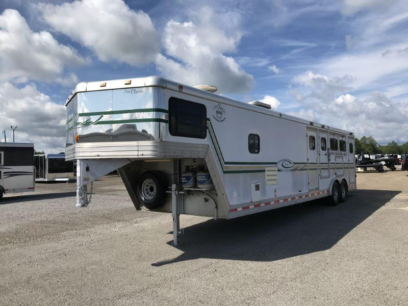 1999  3 HORSE CATO GOOSENECK WITH LIVING QUARTERS HORSE TRAILER