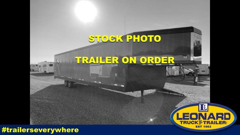 2021 8.5X34 TRAILS WEST ENCLOSED GOOSENECK ATV/SNOWMOBILE TRAILER