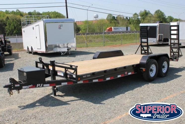 2019 PJ Trailers 20 CC 16K w/ Tongue Box and Fold Up Ramps