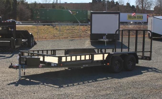 2022 PJ Trailers 7x18 UL w/ ATV Package & Gate
