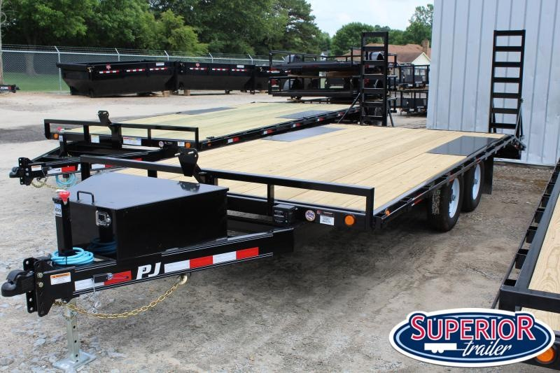 2020 PJ Trailers 18ft L6 10K Deckover w/ Foldup Ramps