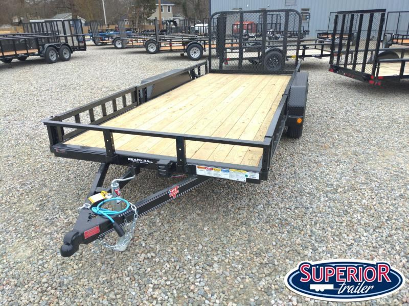 2021 PJ Trailers 16' UK 7K Utility Trailer w/ ATV Ramps