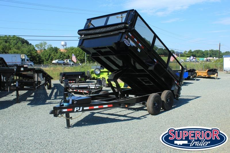 2021 PJ Trailers 7X16 DL 14K Dump Trailer w/ 2ft Side Extensions
