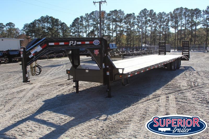 2019 PJ Trailers 38ft LD  w/ 12K Axles and Flip Over Ramps