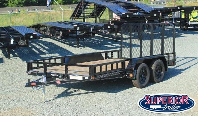2022 PJ Trailers 7x16 UL 7K w/ ATV Package & Gate