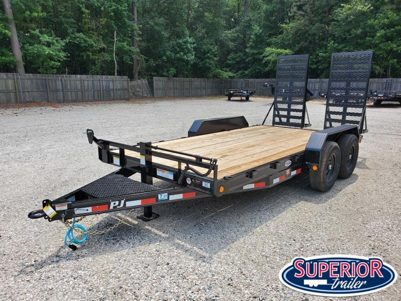 2021 PJ Trailers 16ft CC 14K w/ HD Fold Up Ramps