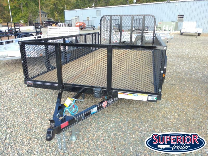 2021 PJ Trailers 14ft UL 7K Utility Trailer w/ Fold Up Gate & 2ft Expanded Metal Sides